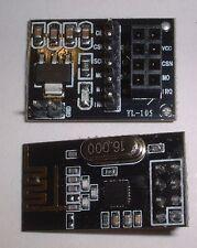 NRF24L01 2.4 GHz Wireless Ricetrasmettitore modulo + interfaccia (8 pin) UK STOCK