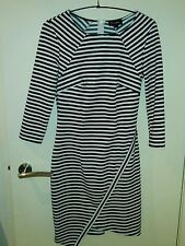 Cotton/Polyester Stripes Machine Washable Dresses for Women