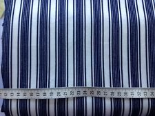 off white with navy stripes nylon Lycra fabric remnant (4-way stretch) 562