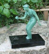 ancien trophée joueur de boule de pétanque ou lyonnaise
