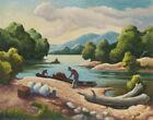 Thomas Hart Benton Current River Canvas Print 16 x 20  #7753