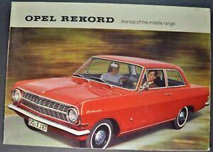 1964 Opel Rekord Catalog Sales Brochure L Sedan Excellent Original 64