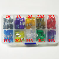 100Pcs Car AUTO Truck Motorcycle Fuse Assortment Case Assorted Blade FUSES Kit
