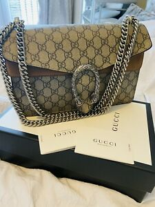 Authentic Gucci Dionysus small GG Supreme shoulder bag