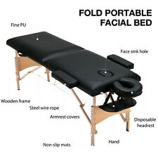 "84""L Fold Portable Massage Table Facial Spa Beauty Bed Tattoo with Carry Case"
