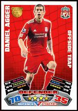 Daniel Agger Liverpool #129 Topps Match Attax Football 2011-12 Trade Card (C208)