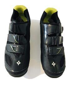 Specialized BG Body Geometry Women's Cycle Shoe Black /Yellow Size US 7.25 EU 38