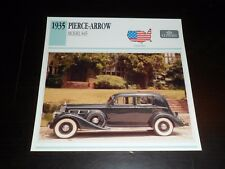 1935 PIERCE-ARROW MODEL 845 Car Photo Spec Sheet Info CARD