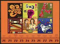 Jersey 2019 MNH 1970s 70s Pop Culture Punk Music Fashion Fondue 6v M/S Stamps