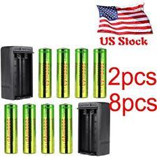 8PCS 5000mAh SKYWOLFEYE Li-ion 3.7V Rechargeable 18650 Battery + Dual Charger HS