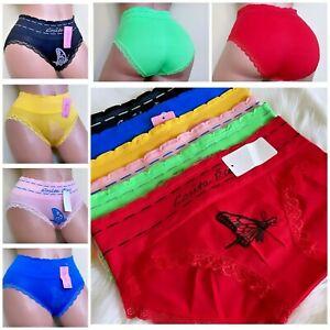 6 WOMEN BIKINI BRIEFS Seamless MID RISE PANTIES UNDIES Underwear TEEN ONE SIZE