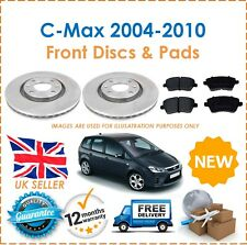 For Ford C-Max 2004-2010 Two Front Vented 300MM Brake Discs & Brake Pads Set New