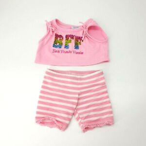Build A Bear BFF Best Friends Forever Sequin Outfit Clothes Toy Shirt Pants Pink