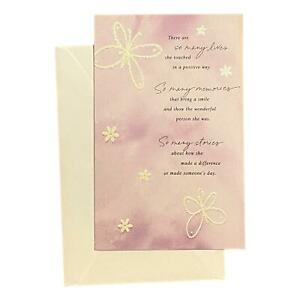 Sympathy Greeting Card for Her - There are so many lives s - Textured Paper, Dou