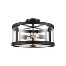 Feiss Harrow 2 Light Semi Flush Mount in Oil Rubbed Bronze - SF341ORB