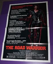 THE ROAD WARRIOR MOVIE POSTER STYLE B ORIGINAL ONE SHEET MAD MAX