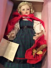 """Paradise Galleries Little Red Riding Hood 15"""" Porcelain Doll In Original Box"""
