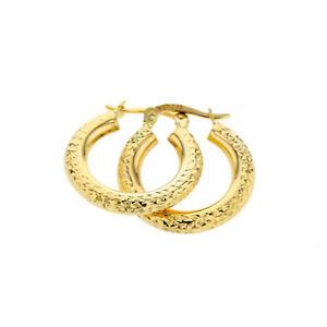 Echt Gold Damen Ohrringe Creolen in 585 Gold Gelbgold Schmuck 14 Karat 2174