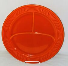 """Vintage FIESTA RED * 11 1/2"""" - 3 COMPARTMENT GRILL PLATE* MINT*"""