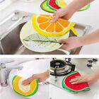 Hanging Kitchen Hand Towel Fruit Print Microfiber Towels Cleaning Rag Dish Cloth