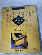 NEW LE BOURGET VOILANCE TIGHTS EXTRA LARGE BLACK 15 DENIER SATIN CLASSIC BRIEF