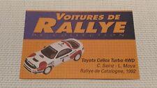 Certificat Voiture De Rallye De Collection « Toyota Celica Turbo 4WD »TBE.