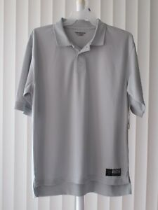 Polo Shirt Short Sleeve Gold's Gym Gray Defect Size Large