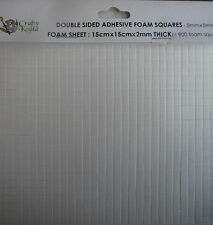 900 3D Foam Squares for Scrapbook Card Making 2mm thick