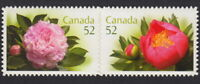 PEONY = flowers = QP Die Cut to Shape booklet Pair Canada 2008 #2262ai MNH