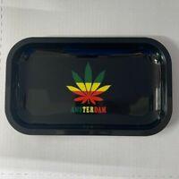 "Reggae Rolling Tray 10.5"" Inch x 6.25"" Inch Herb Herbal Tobacco Amsterdam USA"