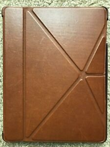 COACH Leather Bleecker Origami iPad Case - Brown