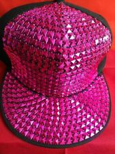Pink Hip Hop Bling Korean Style Baseball Hat Snapback Cap! UK Seller!