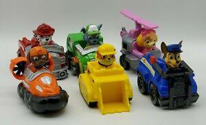 6 PAW Patrol Cars Rubble Zuma Marshall Rocky Skye Chase Spin Masters