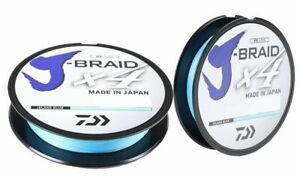 Daiwa J-Braid X4 Braided Fishing Line 65lb- 150 Yards Island Blue  JB4U65-150IB