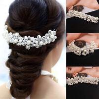 Damen Hochzeit Braut Haarschmuck Kopfschmuck Haarkamm Perle Haargesteck s