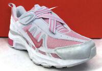 NIKE T-RUN 2 ALT(GS/PS) White/Pink Hook-Loop Youth(Y) Sneakers #336470-600