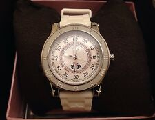 Lady Juicy Couture Watch Crystals White Silicon Belt NEW