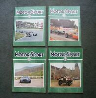 Lot 4 Issues 1964 Vintage England UK F-1 Auto Car Racing MOTORSPORT MAGAZINES