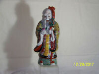 Chinese Qing Dy c1800's Famille Rose Glaze Porcelain Statue Sculpture Reign Mark