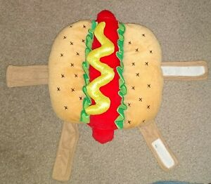 Petco Bootique Hot Diggity Hot Dog Costume for Pet Halloween Size XS