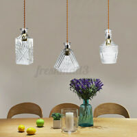 Industrial Retro Suspended Ceiling Light Fitting Glass Shade Vintage   AU1