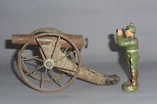 Uralte Kanone aus Blech 17cm lang - Tinplate Cannon