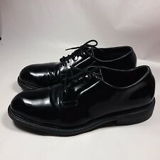 VINTAGE Men's Lehigh Black Patent Leather Steel Toe Safety Uniform Shoes-9 EEE