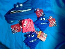 4 Brand New Zipit Monster pouches (1 Large, 3 Small) Free Shipping!