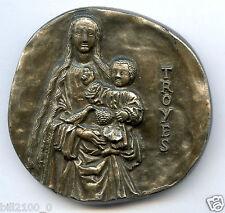Médaille française de la ville de Troyes. Jean-F  S. inscrit sur la tranche .