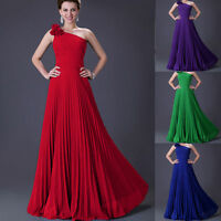 SEXY Womens One Shoulder Long Dress Prom Evening Party Formal Bridesmaid Wedding