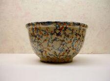 "Vintage Art Pottery Red Wing Ribbed Sponge Ware Mixing Crock Jug Bowl 81/4"" VgC"