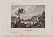 Italia, Italy-Lago d 'Averno. - Baza-acero pinchazo V. reiss/Metzeroth 1850