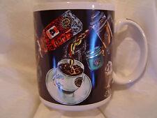 Rare Vintage Starbucks Mug Gold/Black Coffee Press Design