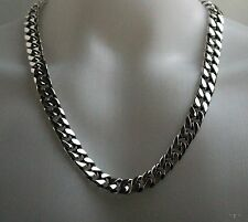 """.925 STERLING SILVER MEN'S NECKLACE CURB LINKS CLASSIC CHAIN NEW SZ 30"""""""